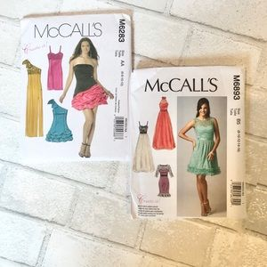 Set of 2 McCalls dress patterns